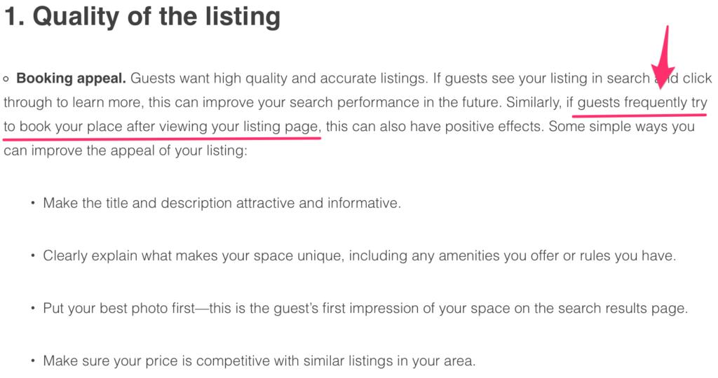 ottimizzare annuncio airbnb