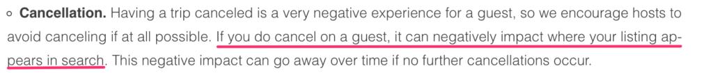 cancellazione airbnb