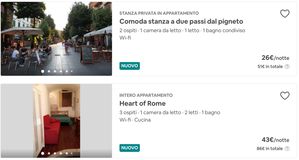 nuovo annuncio airbnb