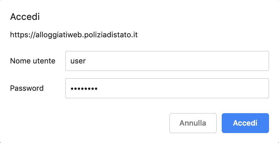 certificato Alloggiati Web