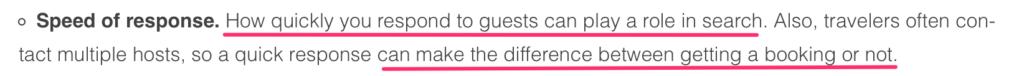 tempo di risposta airbnb