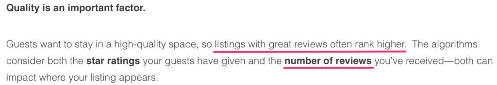 recensioni positive airbnb