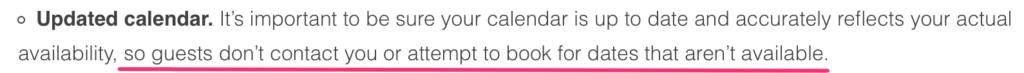 disponibilità airbnb